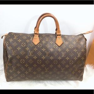 100%Authentic Louis Vuitton Vintage 1982 Speedy 40